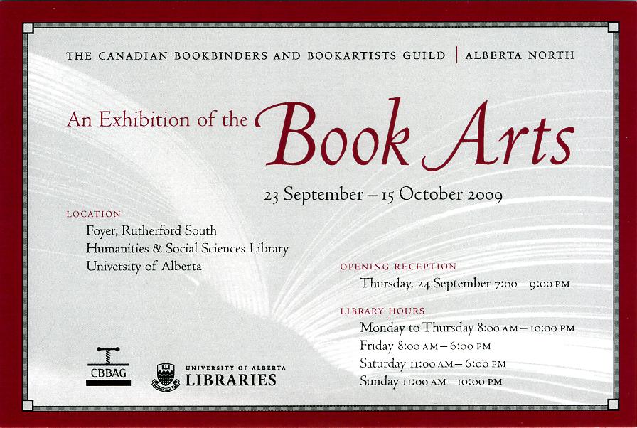 Exhibits and events cbbag alberta north chapter book arts invitation stopboris Image collections