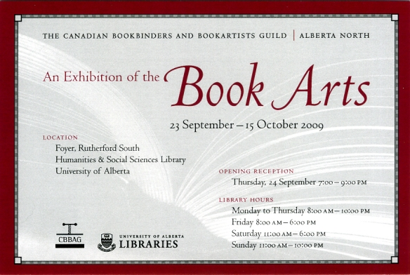 Book Arts invitation
